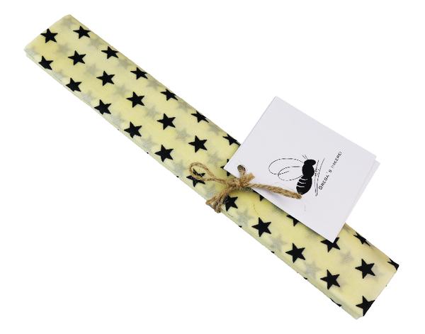 Grega's XXL Bienenwachstuch (Sterne/weiß)