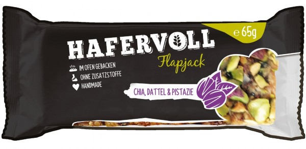 Hafervoll Flapjack 65g (Chia-Pistazie)