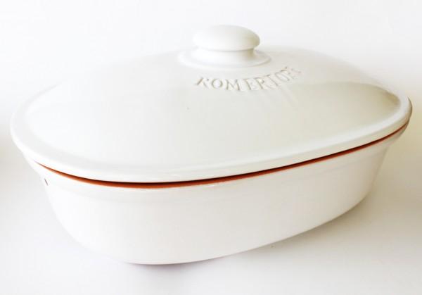 Brottopf oval (weiß)