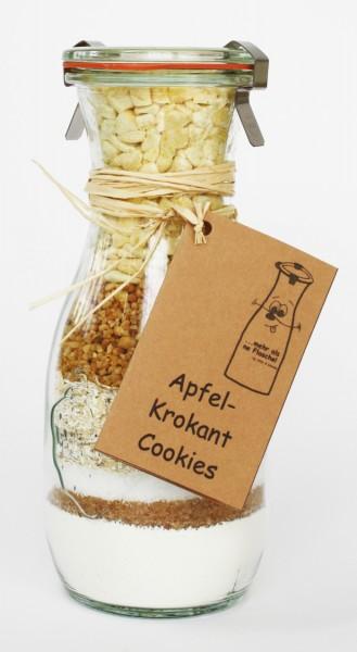 Dinkel Apfel-Krokant Cookies