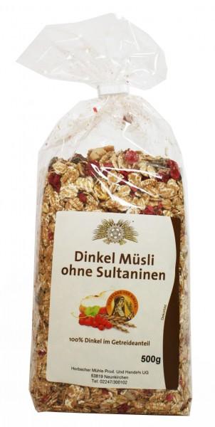Dinkel-Müsli ohne Sultaninen