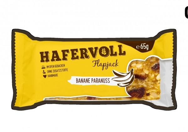 Hafervoll Flapjack 65g (Banane-Paranuss)