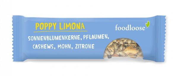 Foodloose Riegel (Poppy Limona)