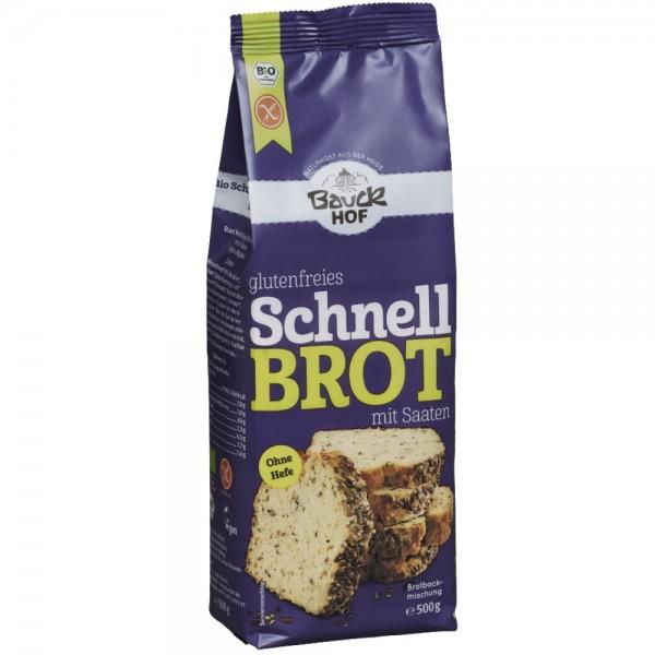 Schnell Brot mit Saaten (glutenfrei)
