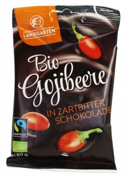 Bio Gojibeere in Zartbitter-Schokolade (50g)