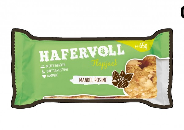 Hafervoll Flapjack 65g (Mandel-Rosine)