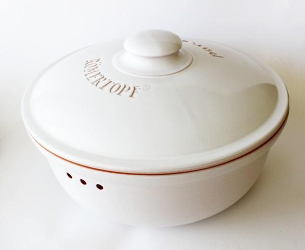 Brottopf rund (weiß)