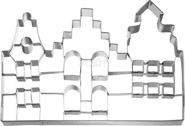 XXL Ausstechform Altstadthäuser