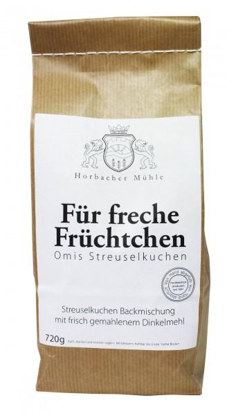 Für freche Früchtchen Backmischung (720g)