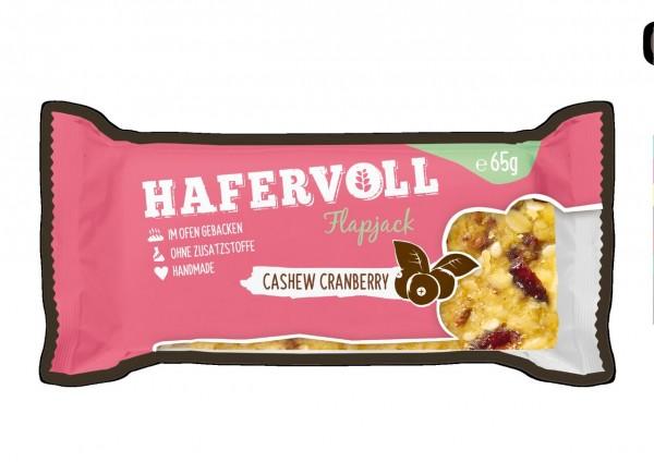 Hafervoll Flapjack 65g (Cashew-Cranberry)