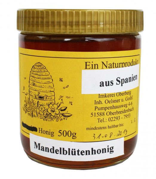 Honig - Mandelblütenhonig (500g)