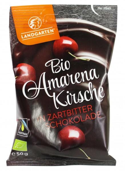 Bio Amarenakirsche in Zartbitter-Schokolade (50g)
