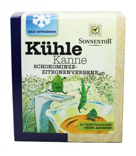 Kühle Kanne (Schokominze-Zitronenverbene)