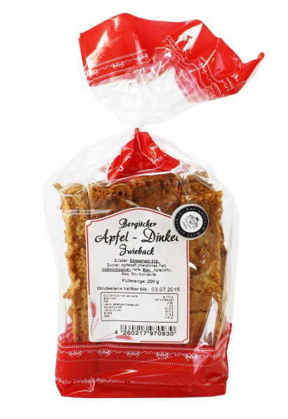 Apfel-Dinkel-Zwieback
