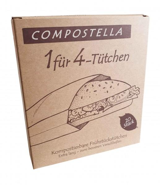 1 für 4 Tütchen (14 x 8 x 32 cm) Compostella