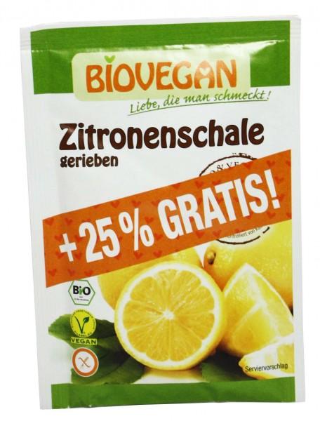 Bio Zitronenschalen gerieben (+25% Gratis)