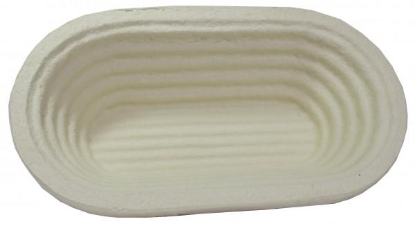 Gärform - lang - oval - Rillen (500g)